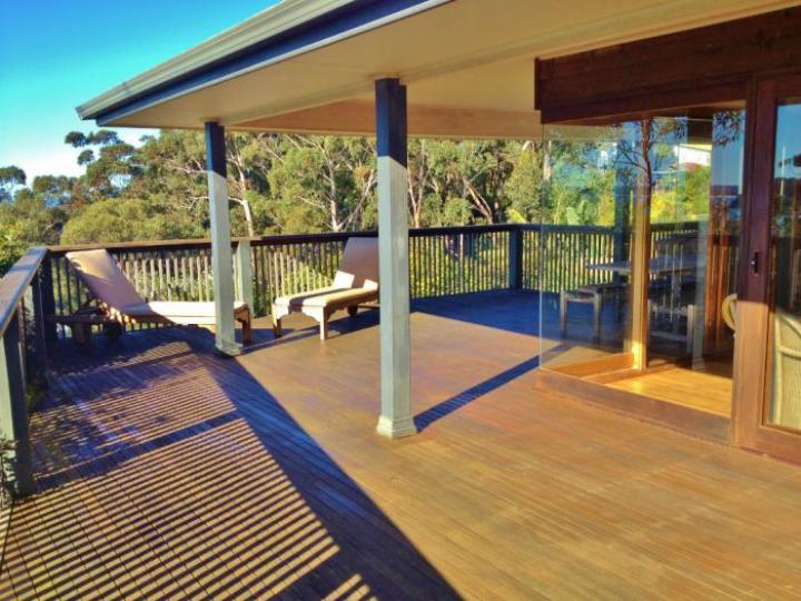 Large sunny deck