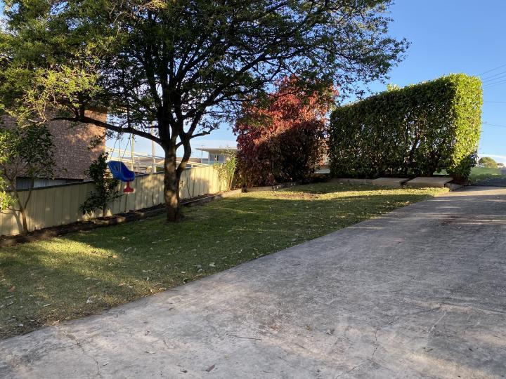 Front garden & baby swing