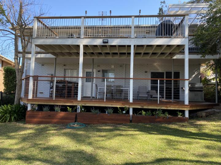 Back yard, veranda and deck, entertain in style or just relax